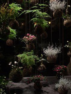 Japanese string gardens.