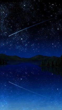 Shooting Star reflection. masyallah!