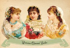 Victorian Ladies  Beautiful Victorian images by ilFioredOro, €3.25