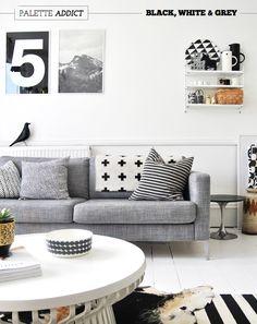Monochrome living room scheme (Deborah Moir for AMM)