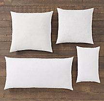 """Feather Accent Pillow Inserts, 22"""" square, on sale for $16 - to fit red cashmere pillow covers"""