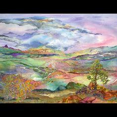 lights, landscap quilt, grace wever, art quilt, garment