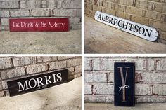 Painted Signs for Mother's Day Gifts - 20% off through 4/28 w/code SIGN4MOM - #signs #woodsign #gifts #mothersday #family #name #wallart