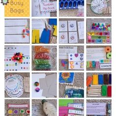 Toddler Time Busy Bag {Preschool}