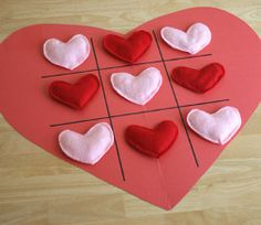 This Heart Tic Tac Toe Board is fun to make and fun to play with! From @AllFreeKidsCrafts
