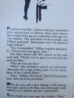 """""""Found this joke in an August 1993 Playboy"""" via reddit (Hillary and Bill Clinton)"""