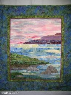 Landscape quilt-piecework  beautiful like a jelly roll race but planned :)