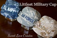 military baby hats  cutest thing ever!