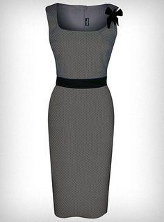 Cute Polka Dot Pin-Up Shimmy Dress.