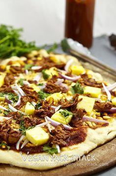 VEGAN BBQ Gardein Pineapple Pizza