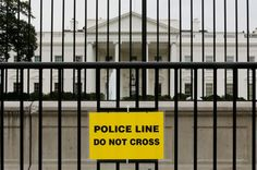 A new fence is another lurch away from a tradition of openness that used to coexist with concerns about protecting the President, Jeff Shesol writes: http://nyr.kr/1sNjiK3 (Photograph by Kevin Lamarque / Reuters)