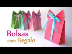 Manualidades: BOLSAS de papel para REGALO - DIY Innova Manualidades - YouTube
