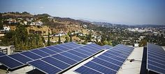 Solar panels on a home in Los Angeles. Alec will promote legislation planning to penalise individual homeowners who install solar panels. (p...
