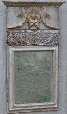 Antique mirror with grey antique tones