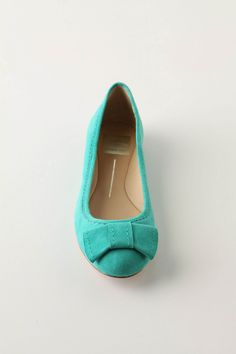Suede Turquoise Flats, Anthropologie.