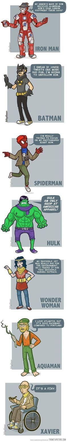 Hipster Super heroes