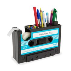 Rewind Desk Tidy Dark Blue