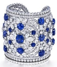 ۞ Sapphire & Diamond Cuff by Graff