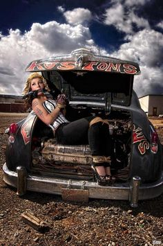 Pinups And Hotrods- LOVE THIS!