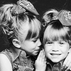 such a cute shot of the Olsen twins when young