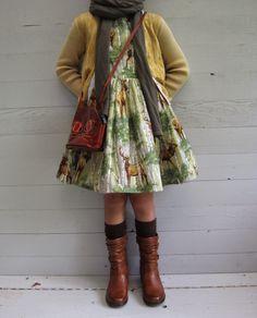 deer dress and fall layers // toertjes & pateekes