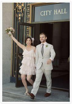 City Hall wedding.