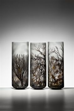 "*Art Glass - ""Pretty Valley"" by Holly Grace (Blown glass with glass powder  metal leaf)"