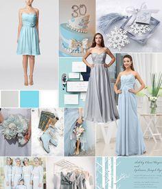 blue winter bridesmaid dresses, 2014 bridesmaid dresses, winter bridesmaid dresses long, ice blue bridesmaid dress, ice blue bridesmaids, color trend, ice blue wedding colors, ice blue dress, blue 2014