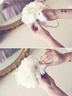 floral #wedding halo tutorial. #diy