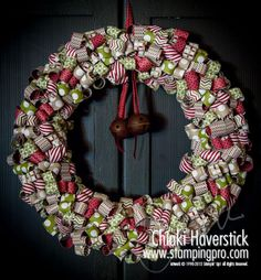 Christmas Wreath made with curls of Season of Style DSP - takes an entire package.