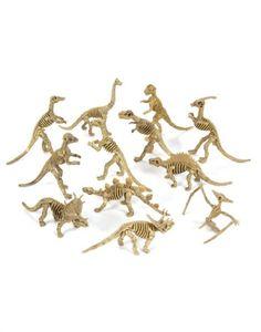 """have kids dig them up Assorted Dinosaur Fossil Skeleton 5-6"""" Figures, 12-Piece"""