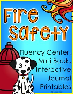 Fire Prevention Week: Fire Safety Lesson - fluency, mini book, and interactive journal printables. Easy activities that your students will love! #TPT $paid #FireSafetyWeek #FirePreventionWeek