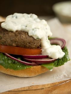 Lamb burger with tzatziki | Drizzle and Dip