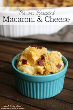 Bacon Breaded Mac and Cheese- the definition of comfort food #recipe
