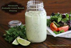 Homemade Avocado-Lime Ranch Dressing