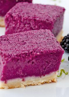 Blackberry Lime Bars ~ perfect summertime dessert!