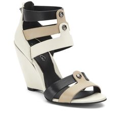 Balfour Leather Caged Wedge - Kenneth Cole