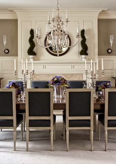 Formal dining designed by Christopher Maya