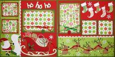 Ho, Ho, Ho scrapbook layout