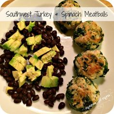 Southwest turkey & spinach meatballs