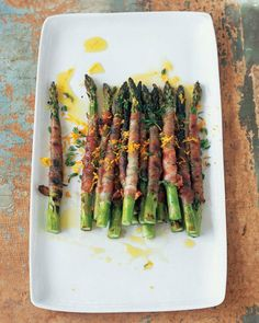 Asparagus Wrapped in Pancetta with Citronette from @Martha Stewart Living