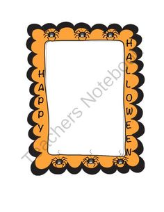 Halloween PIcture Frame from Tammy Taecker on TeachersNotebook.com -  (2 pages)  - Want a fun way to celebrate the holiday? Take pics of your students and have them color and/or cut out this super cute frame. Put a magnet on the back to complete. Parents love these!