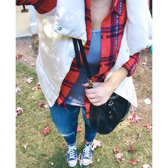 fall flannel and ves