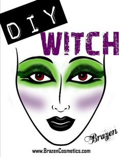 DIY Witches Makeup. Maybe this will come in handy someday