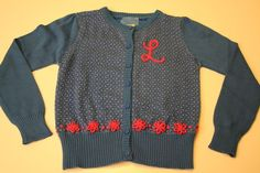 A simple chain-stitched monogram turns a store-bought sweater into something special.