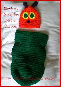 Newborn Caterpillar Hat & Cocoon