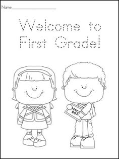 First Day of School Certificates and Coloring Worksheets image 2