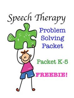 Speech Therapy Problem Solving Scenarios & Graphic Organiz Repinned by  SOS Inc. Resources  http://pinterest.com/sostherapy.