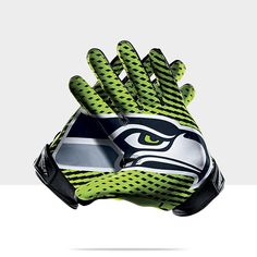 Nike Vapor Jet 2.0 (NFL Seahawks) Men's Football Gloves -  WANT WANT WANT