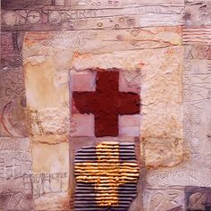 """Carey Corea, """"Breathe Not the Sins of Others"""" Mixed Media with Encaustic, 16x16."""